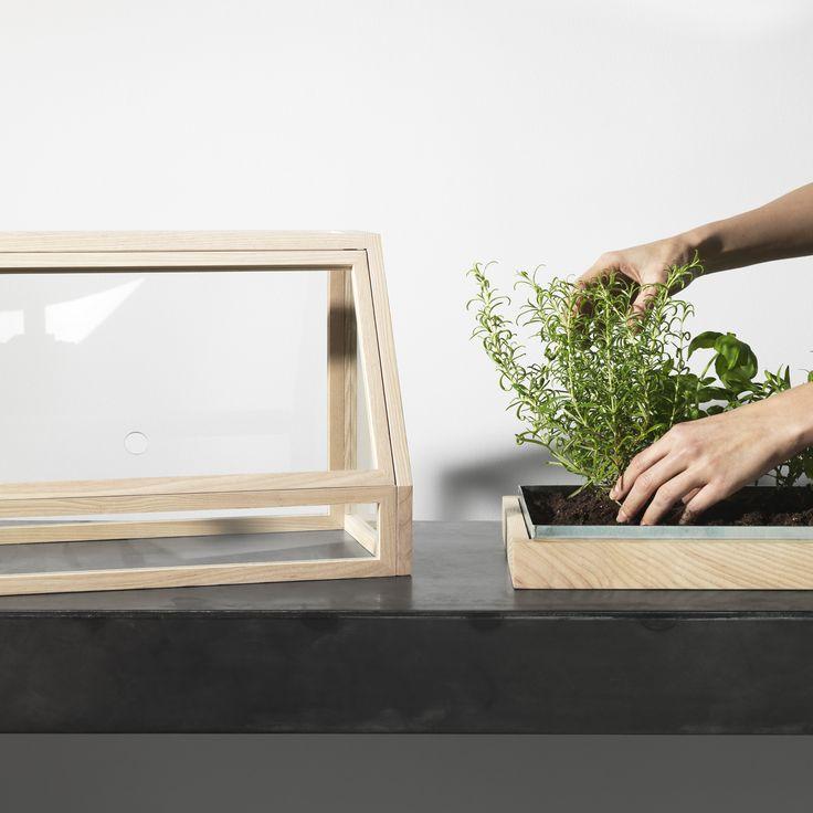 Greenhouse Mini växthus - mörkgrå/klarglas - Skåp & vitrinskåp – Svenssons i Lammhult