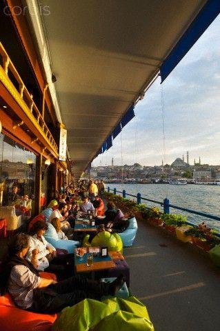 Lower Level Galata Bridge, Istanbul, Turkey