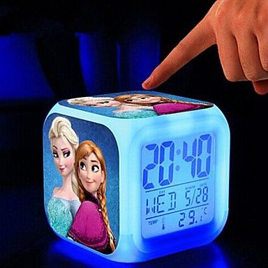 Disney™ Frozen 7 Colour Change Clock Thermometer. Only at www.pandadeals.co.uk
