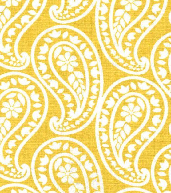 Keepsake Calico™ Cotton Fabric-Eloise Yellow Paisley