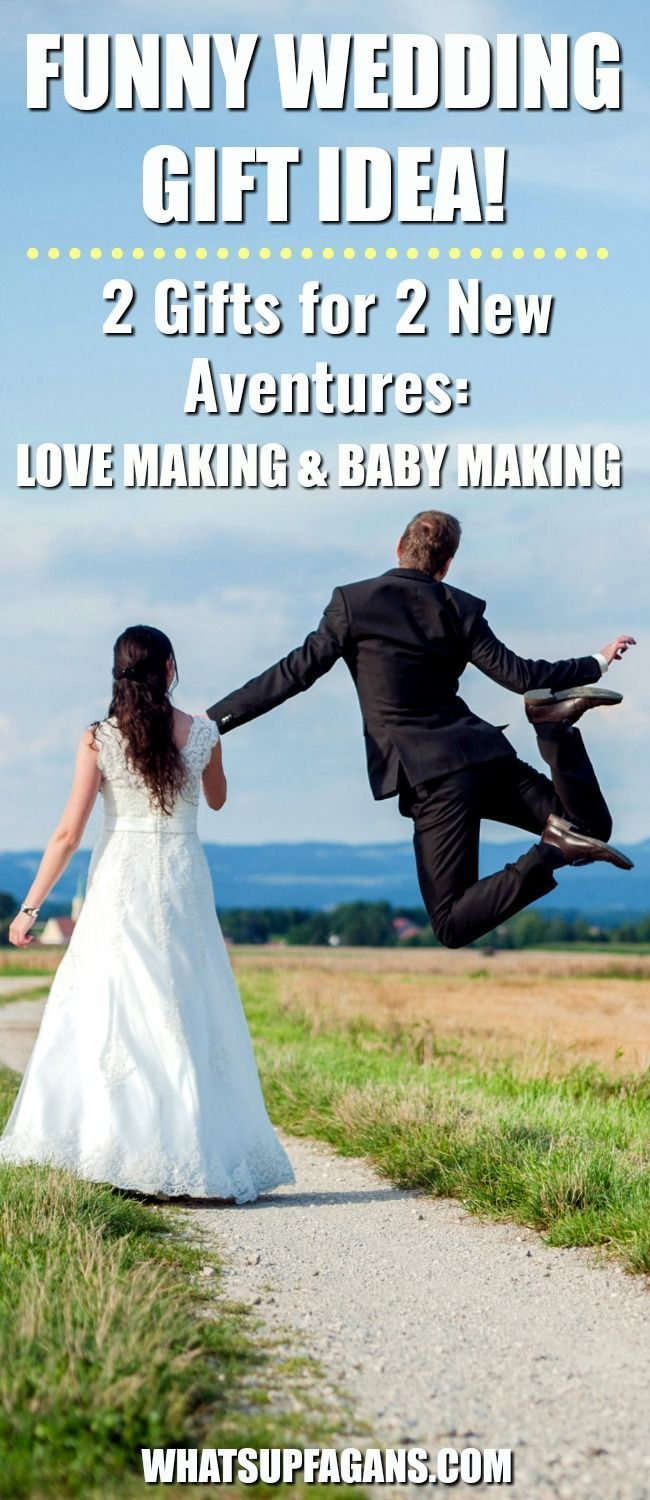 Funny Wedding Gifts Ideas for young Christian Mormon couples. Marriage presents.