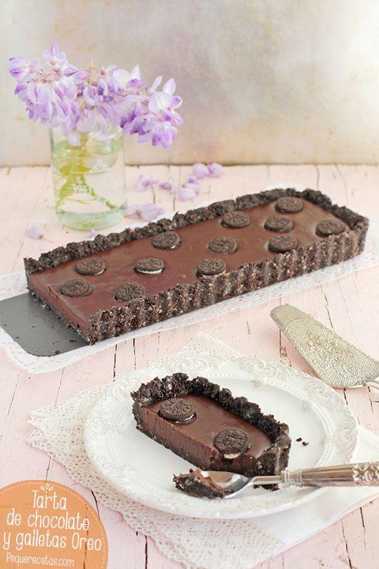 Tarta de chocolate y galletas Oreo sin horno