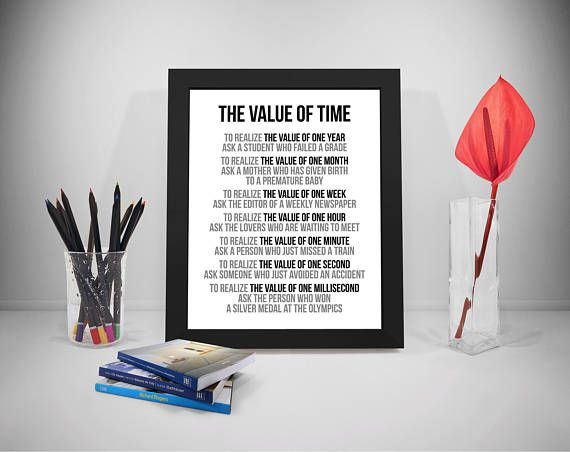 The Value of Time To Realize The Value of One Year Quote
