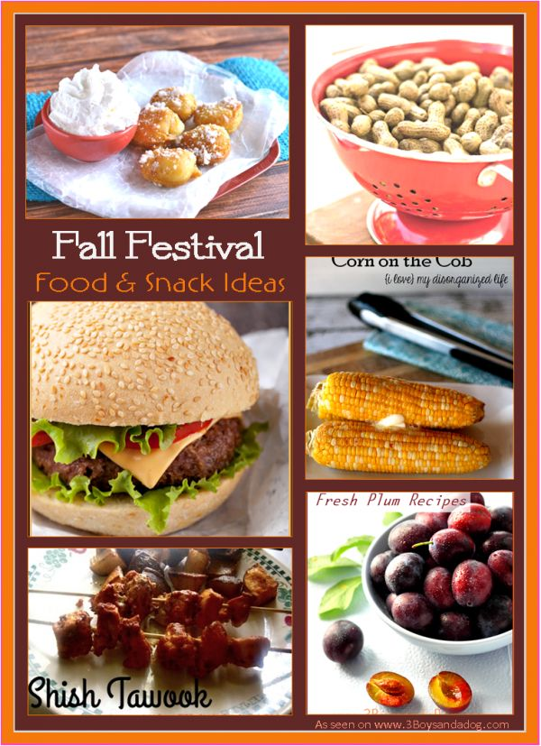 Fall Festival:  Food Ideas