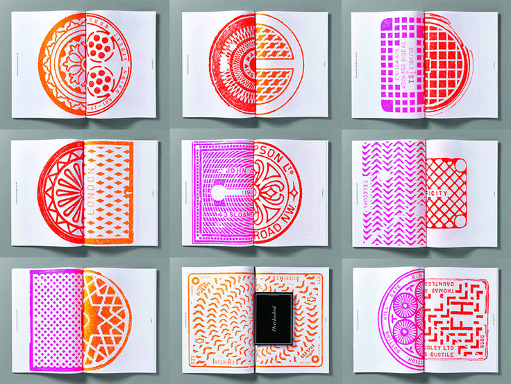 In a Series of Prints, Pentagram Reimagines London's Manhole Covers as Art - CityLab
