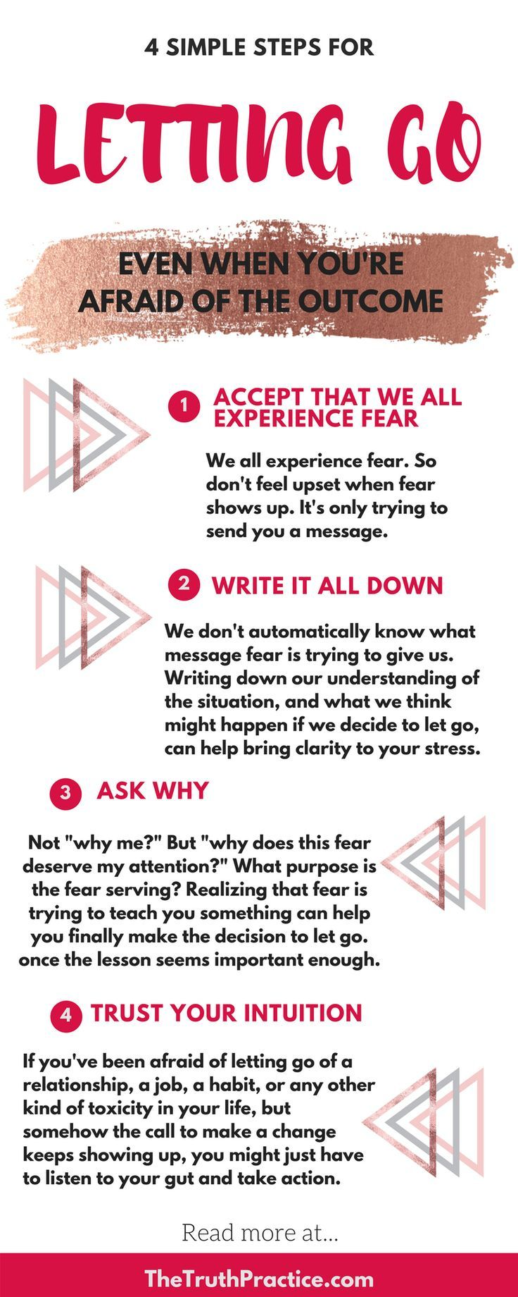 Moving beyond fear & letting go.When we have a difficult decision to make sometimes the fear of not knowing how things will turn out can stop us from following our dreams or moving forward.
