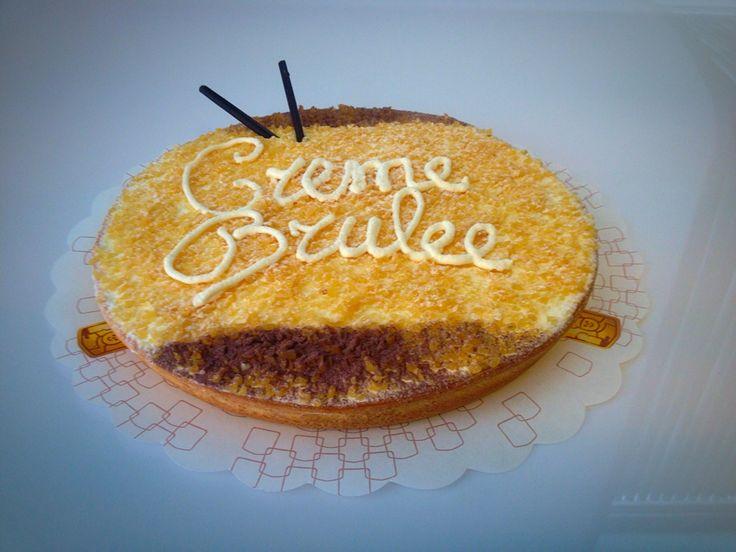 Crème brulee vlaai   Belgische room met butterscotch krokant