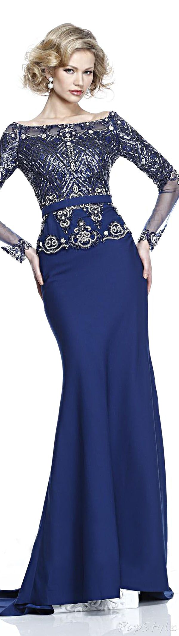 """Tarik Ediz 92230 Evening Gown (^.^) Thanks, Pinterest Pinners, for stopping by, viewing, re-pinning, & following my boards.  Have a beautiful day! ^..^ and """"Feel free to share on Pinterest ^..^  #women #topfashion #fashionandclothingblog"""