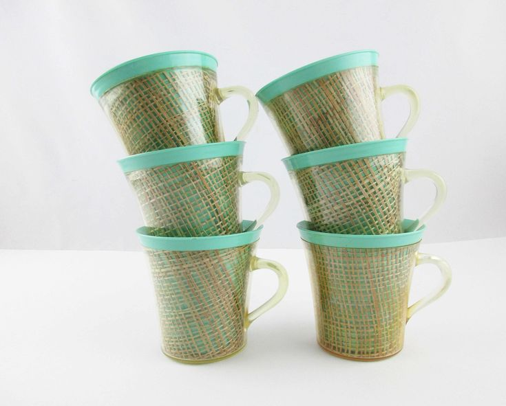 Six Supercool Thermal Mugs Hot Or Cold Light Teal