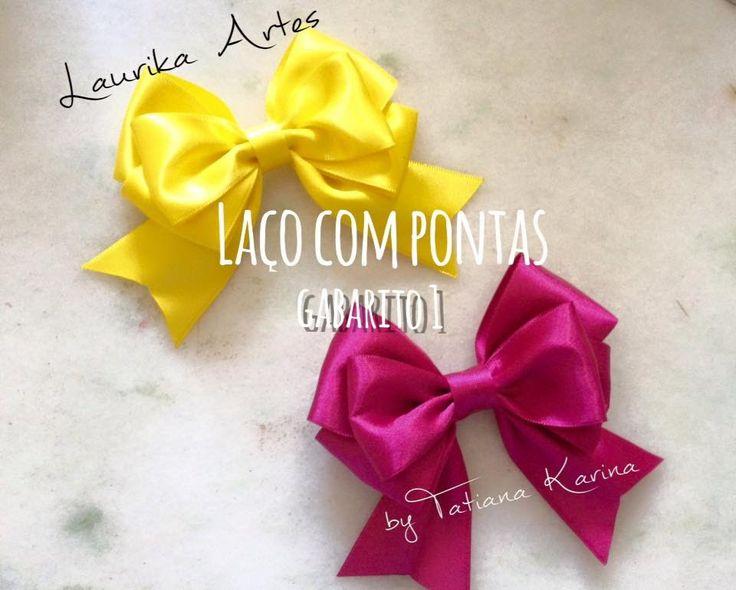 Gabarito 1: Laço com pontas (Hair bow) D.I.Y/ Tutorial by Tatiana Karina
