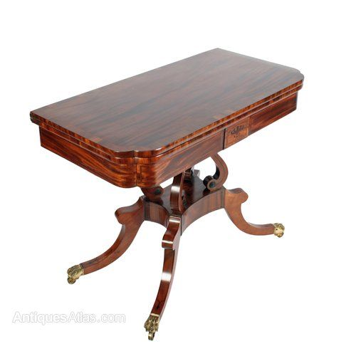 Regency Card Table Attributed To William Trotter   Antiques Atlas. 56 best Antique Scottish Furniture images on Pinterest   Drawers