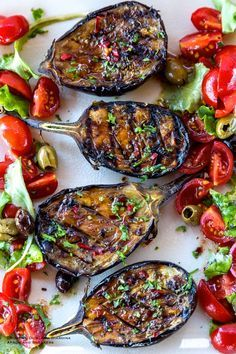 Apron and Sneakers - Cooking & Traveling in Italy and Beyond: Grilled Spicy Mediterranean Eggplant with Tomato Salad