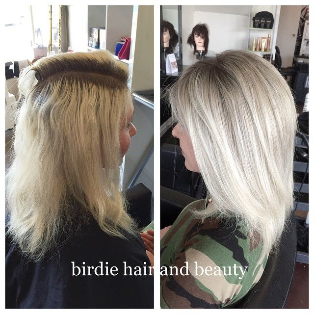 My Client Was Wanting To Grow Out Her Over Bleached Hair