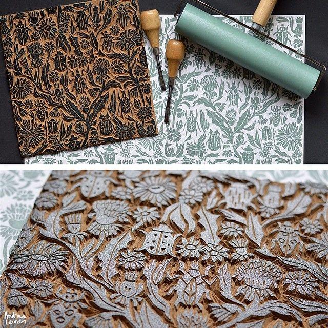 Best images about linocut woodcut silkscreenprint