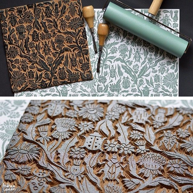 Best ideas about linoleum block printing on pinterest