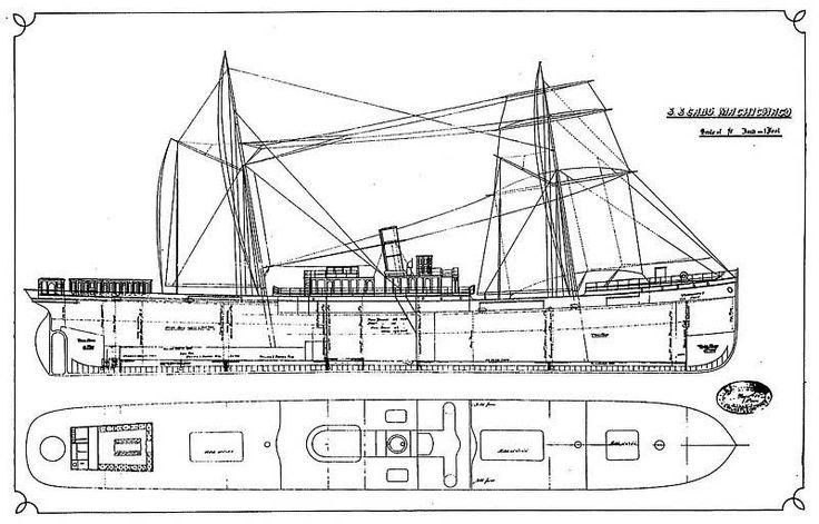 """Este viaje el """"Machichaco"""" había llegado con 1.616 toneladas de carga general, incluyendo 398 de barras y flejes de hierro, 356 de lingote, 105 de hojalata,"""