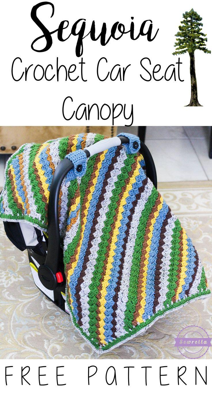 épinglé par ❃❀CM❁✿The Sequoia Crochet Car Seat Canopy | Free Pattern from Sewrella
