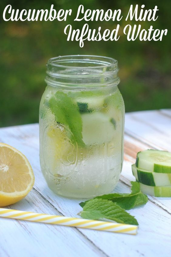 Cucumber Lemon Mint Water Recipe from @NotQuiteSusie - this is super tasty!
