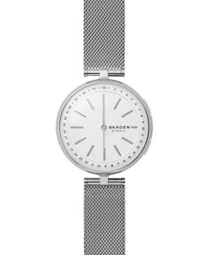 Skagen Women's Signatur Stainless Steel Mesh Bracelet Hybrid Smart Watch 36mm - Silver