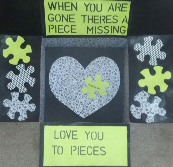 "Care Package box kit ""Love You To Pieces"" by BekProductions on Etsy https://www.etsy.com/listing/205280808/care-package-box-kit-love-you-to-pieces"