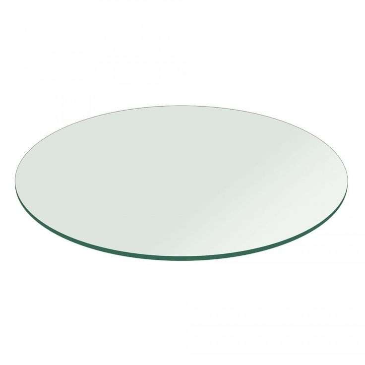 3/8 Thick Round Glass Table Top Flat Polish Tempered (12 inch round), Clear