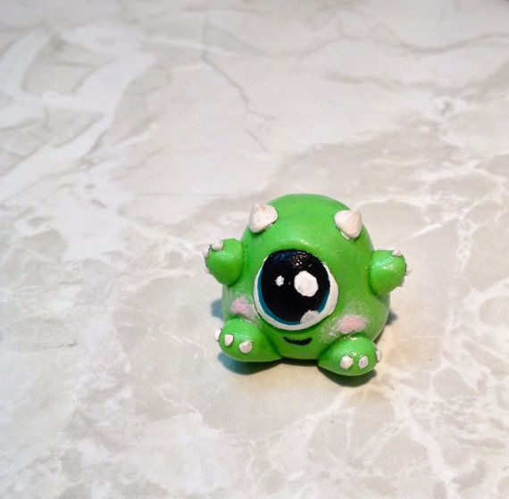 Monsters inc. Baby Mike Wazowski Polymer by DoubleMonkeyFeathers