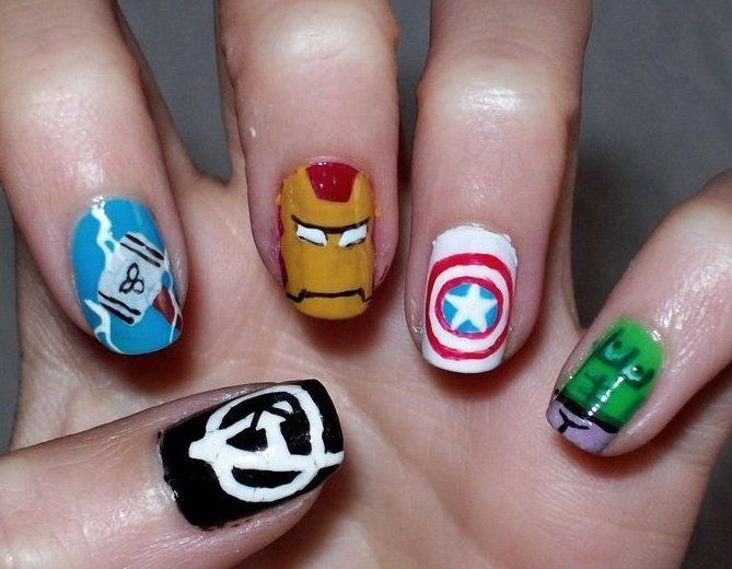 51 best Marvel Nails images on Pinterest | Marvel nails, Avengers ...