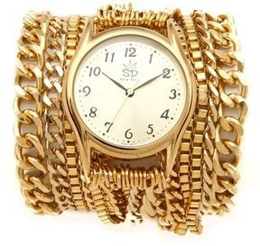 Sara designs All Chain Wrap Watch on shopstyle.com