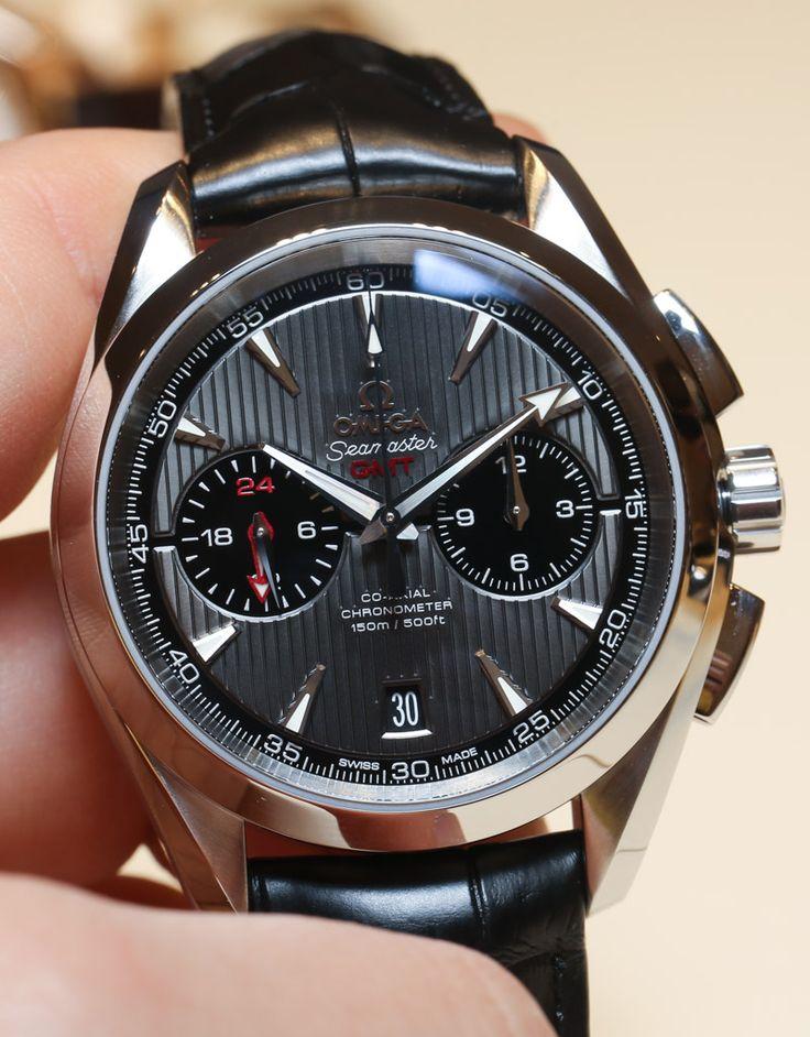 Omega Aqua Terra Chronograph GMT Watch Hands-On | aBlogtoWatch