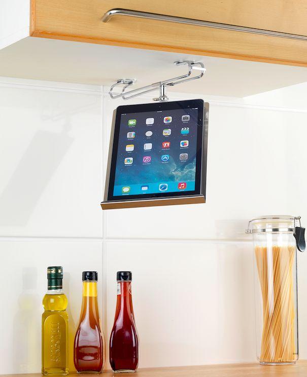 un ingenioso invento para poder ver las recetas mientras cocinas y convertirte en el chef de