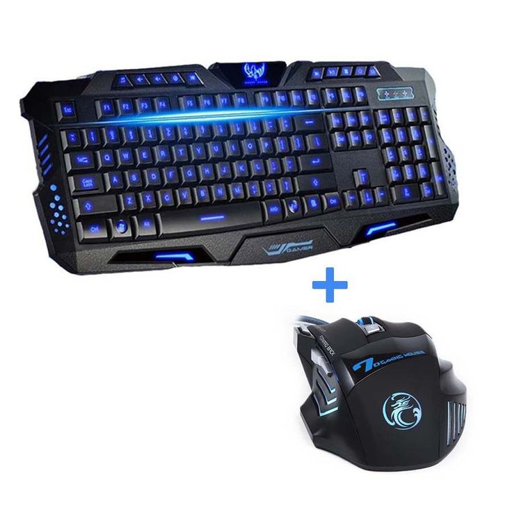 Laptop Computer Gamer Keyboard Mouse Combo Optical Professional 7 Buttons 5500 DPI Mice