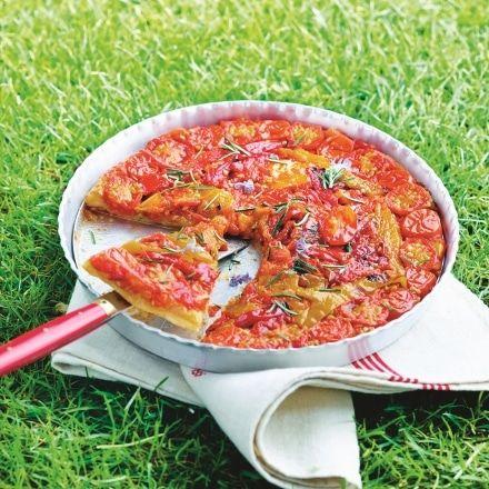 Tatin de tomates et poivrons grillés
