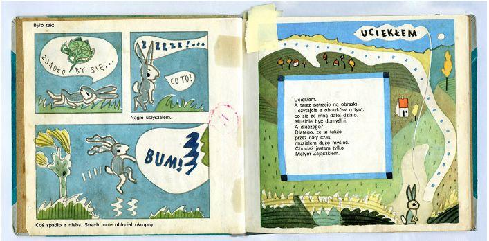 Bunny Grey Ears / Zajączek szare uszko, written and illustrated by Mieczysław Piotrowski