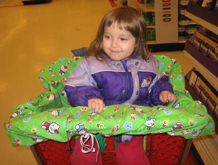 FREE , how to make Shopping Cart Seat Cover for kids.... so they don't have to TOUCH that nasty shopping cart !!!!   FREE INSTRUCTIONS !!!