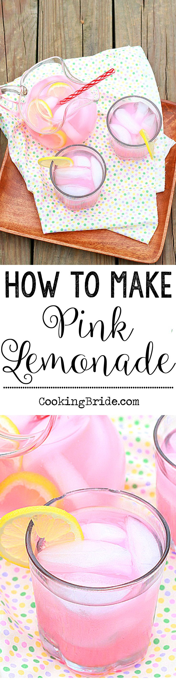 How to make homemade pink lemonade from scratch.
