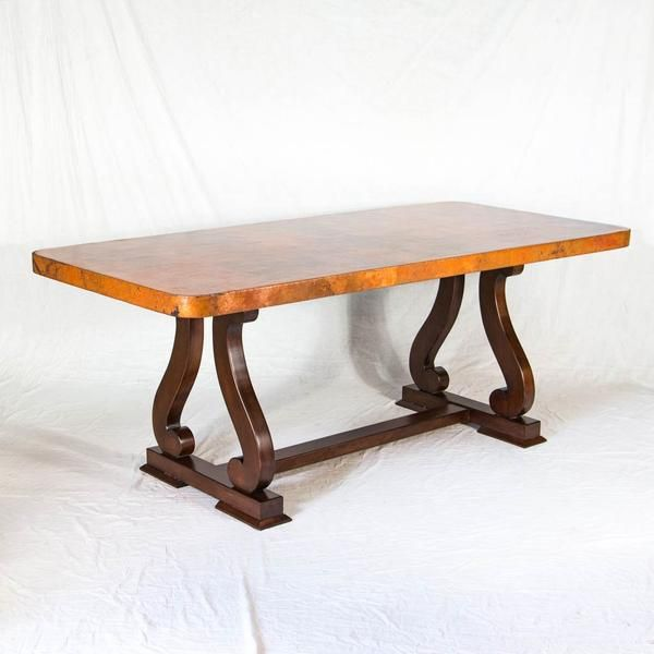 Sultan Copper Top Dining Table Dining Table Custom Dining