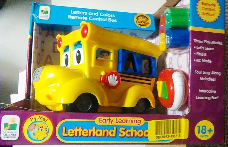 Toys Gifts for Toddlers Remote Control Shape Sorter, Letterland School Bus New #LearningJourney