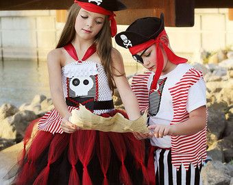 Pirate Tutu Dress Pirate Costume Girls Pirate Costume by TutuFoxy