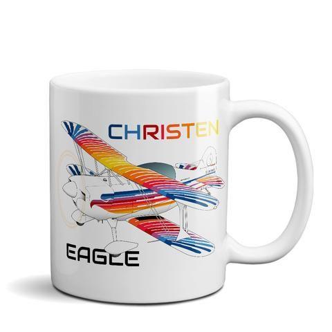Christen Eagle Airplane Ceramic Mug - Personalized w/ N#