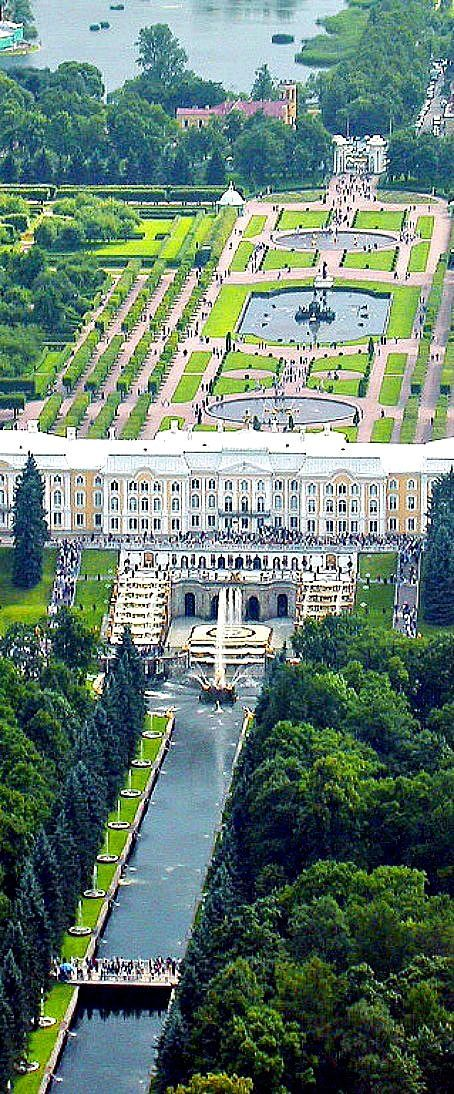 Royal Palace and Park in Peterhof,  St. Petersburg, Russia  (also known as the Russian Versailles)