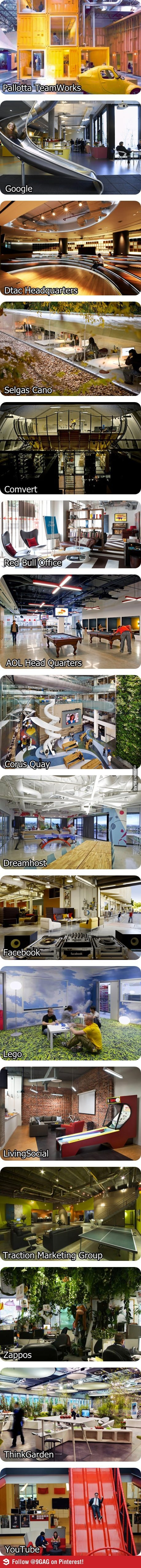 Some awesome offices...