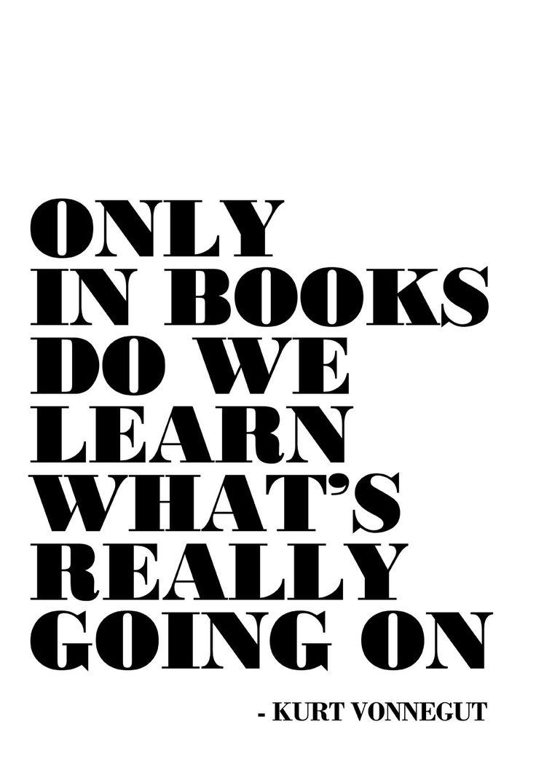 Kurt Vonnegut Quote Art Print Art Poster by EscapeModulePrints