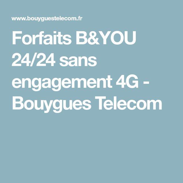 Forfaits B&YOU 24/24 sans engagement 4G - Bouygues Telecom