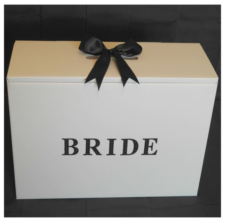 Black Diamante Bride Stunning Wedding Dress Travel Box