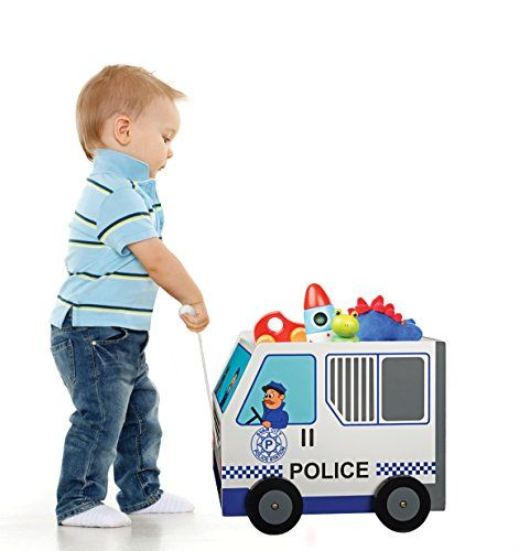 PULL ALONG TOY BOX – Teach your children to clean up their toys while playing pretend firemen POLICE CAR WAGON – Let your children imagine with our Fire Truck-themed wagon as they carry their toys across rooms TOYS THAT TEACH – Our Fire Truck Pull Along Toy Box encourages your children to imagine