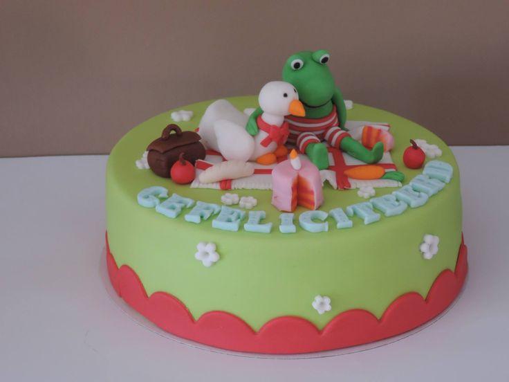Kikker taart cake