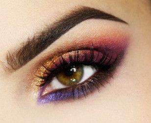 Makijaż: Odcienie fioletu i złoto - SNOBKA