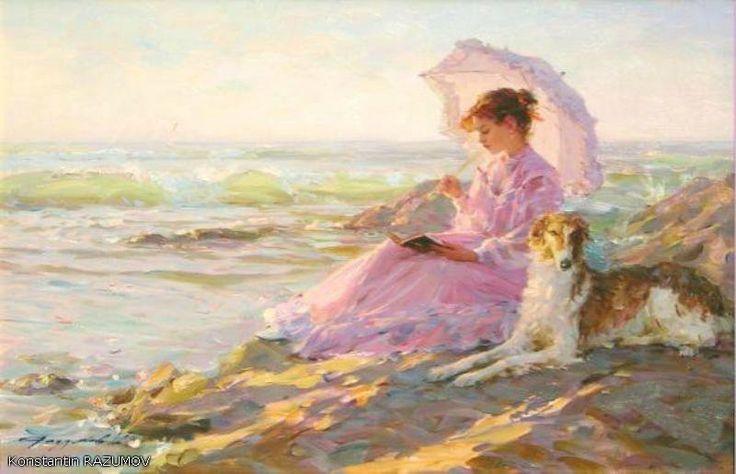 Дама с собакой - Схемы вышивки - olggorbynova - Авторы - Портал «Вышивка крестом»