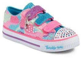 Girl's Skechers Twinkle Toes Shuffles Light-Up Sneaker