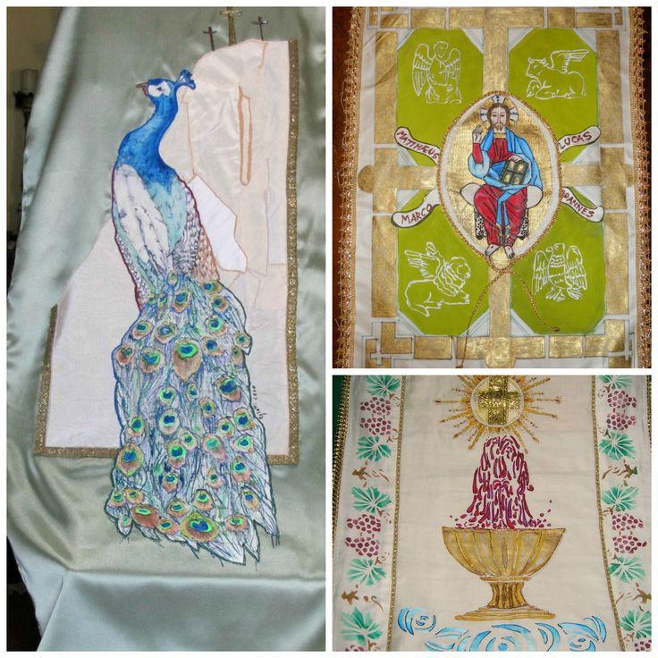 Coprileggii per  ambone  ; pittura su  tessuto